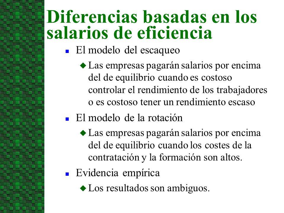Diferencias basadas en los salarios de eficiencia