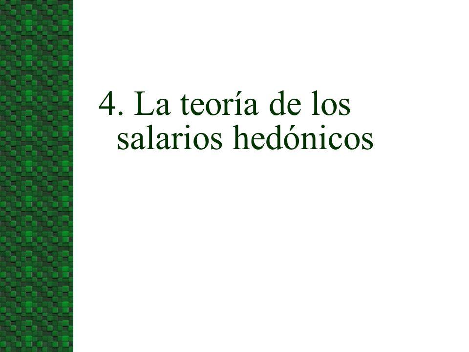 4. La teoría de los salarios hedónicos