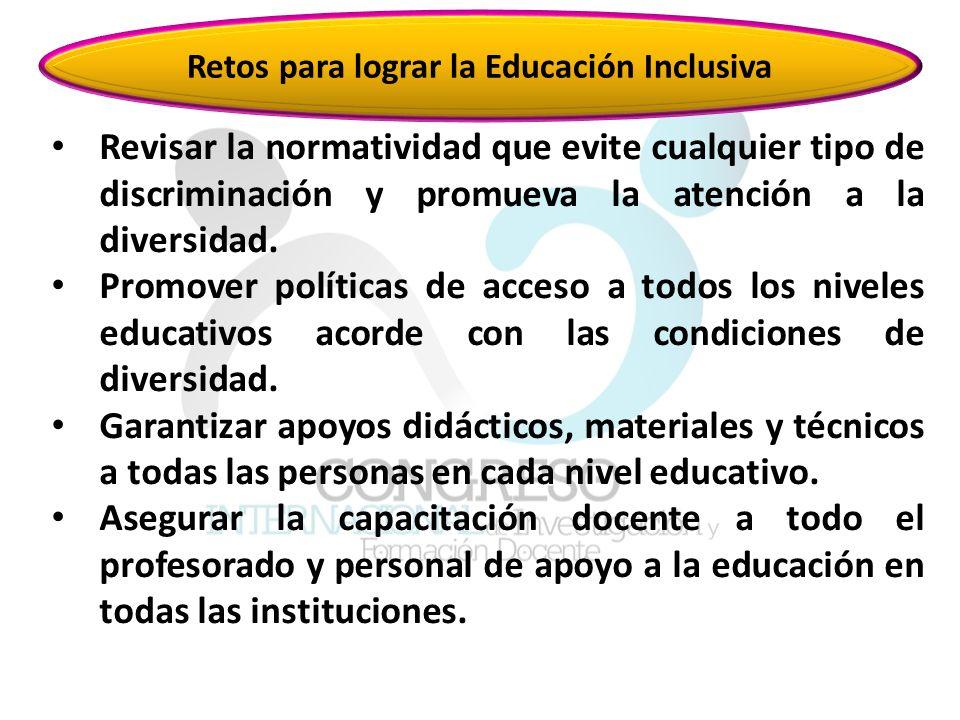 Retos para lograr la Educación Inclusiva