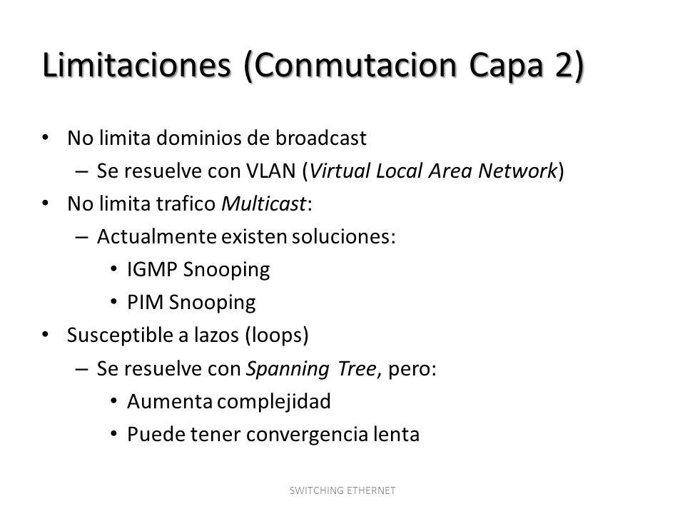 Limitaciones (Conmutacion Capa 2)