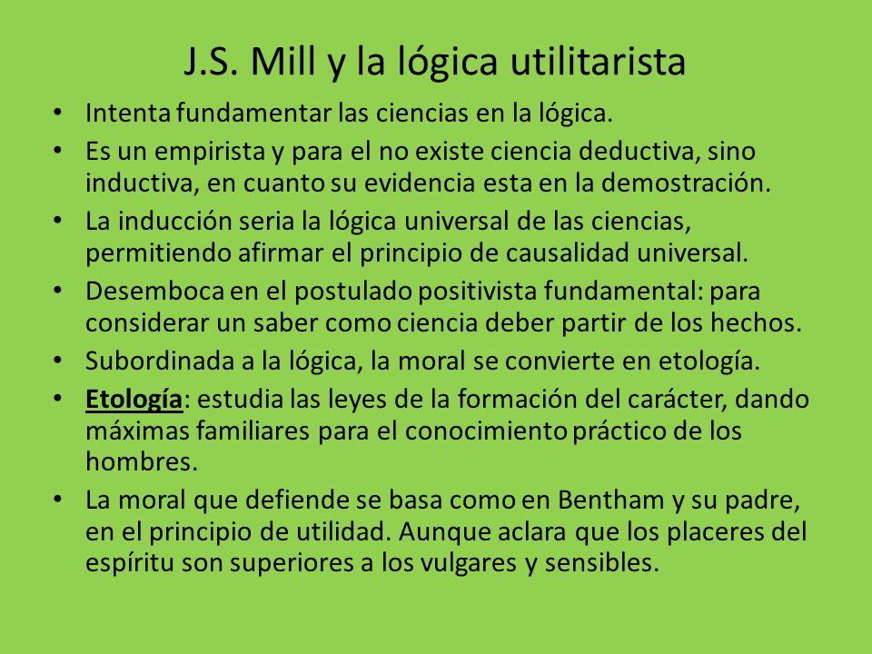 J.S. Mill y la lógica utilitarista