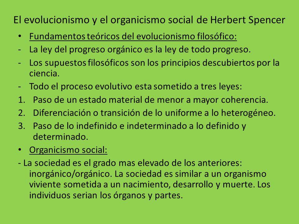 El evolucionismo y el organicismo social de Herbert Spencer