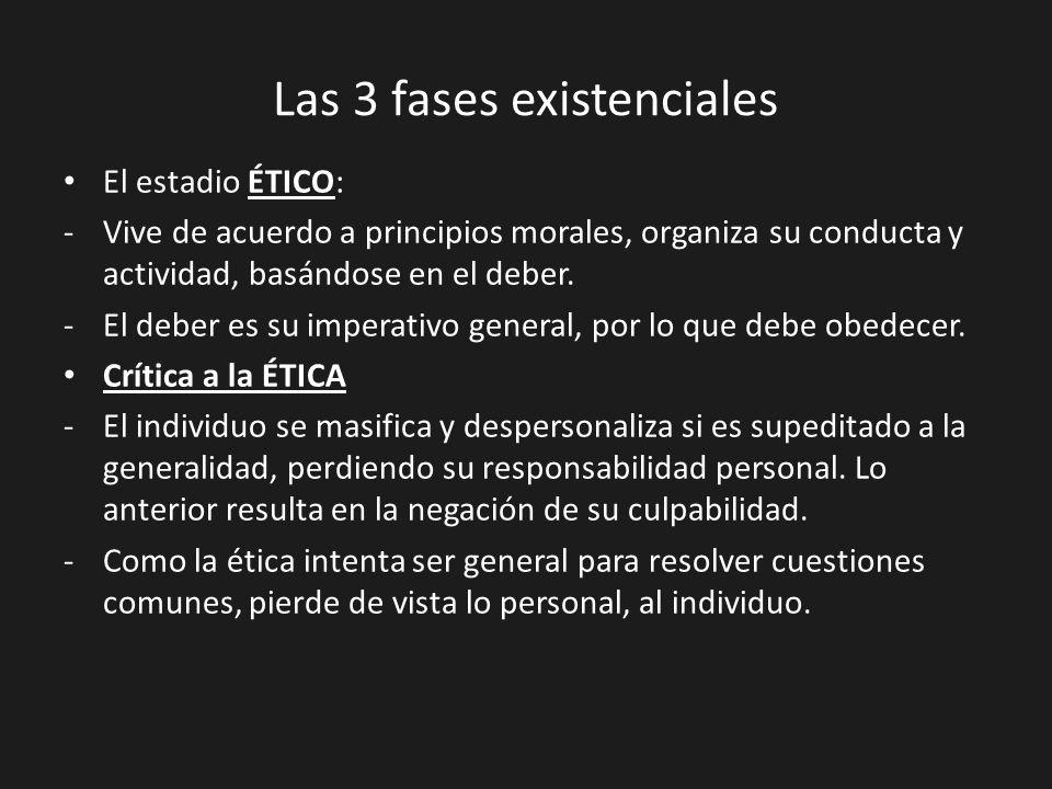 Las 3 fases existenciales