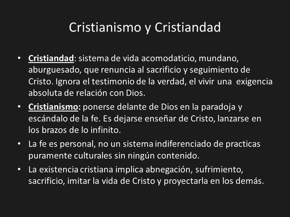 Cristianismo y Cristiandad