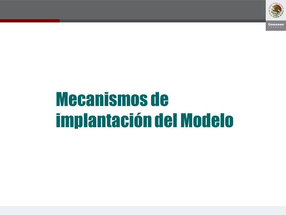 Mecanismos de implantación del Modelo