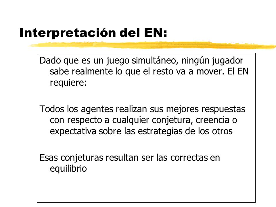 Interpretación del EN: