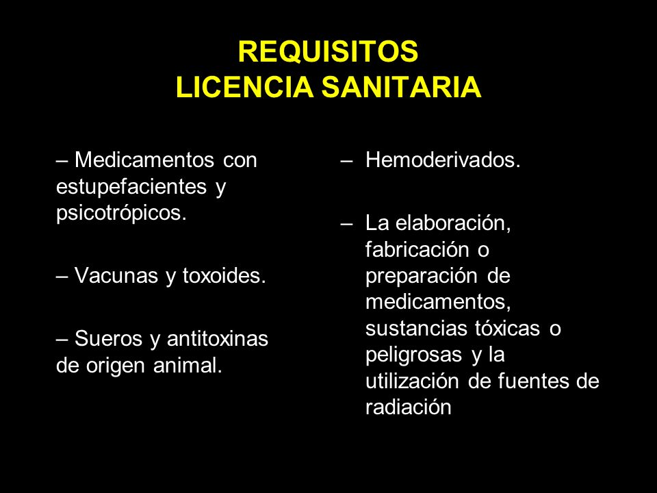 REQUISITOS LICENCIA SANITARIA