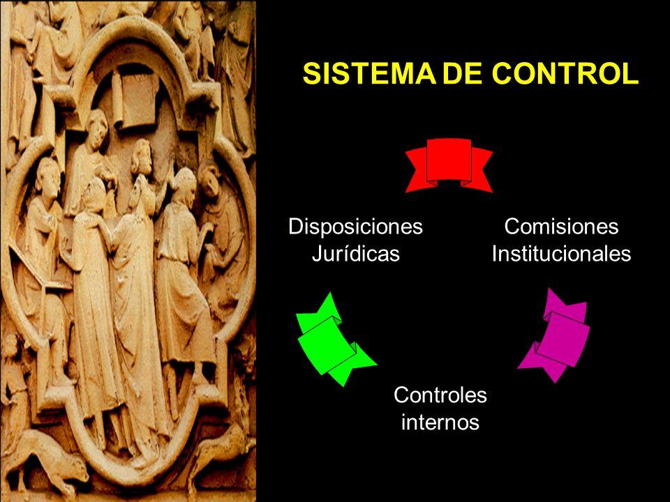 SISTEMA DE CONTROL Disposiciones Jurídicas Comisiones Institucionales
