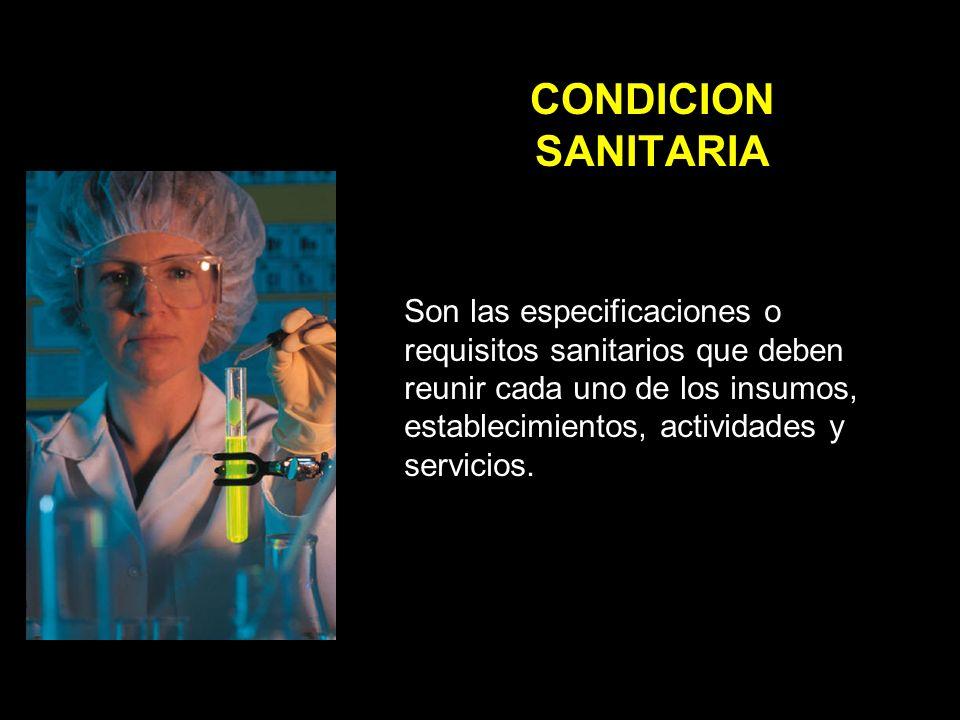 CONDICION SANITARIA