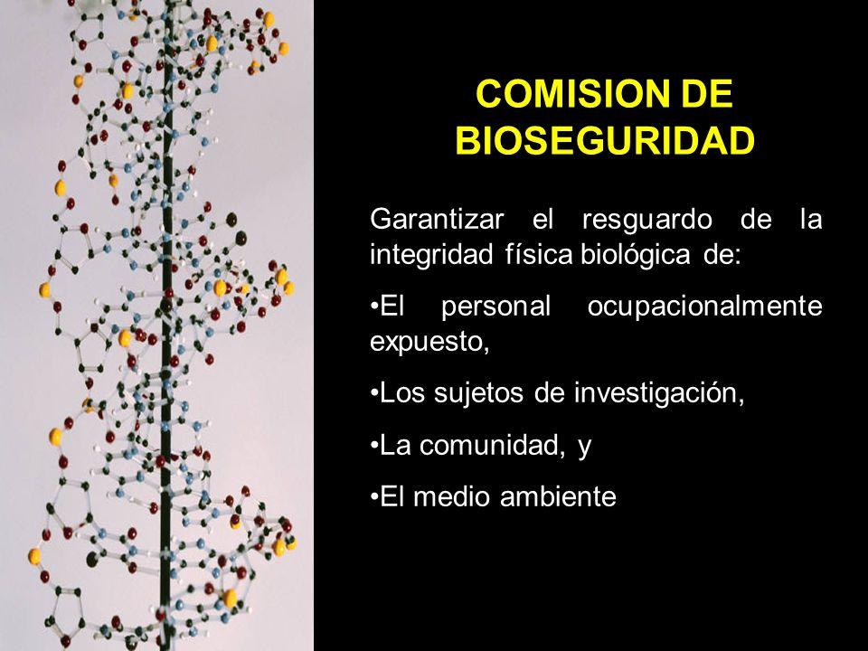 COMISION DE BIOSEGURIDAD
