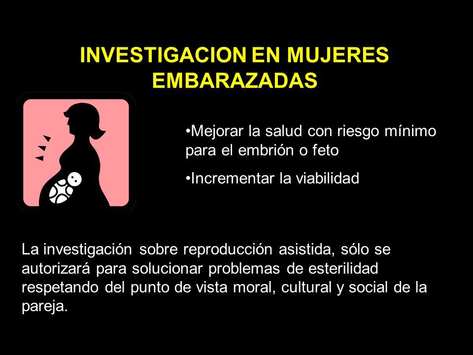 INVESTIGACION EN MUJERES EMBARAZADAS