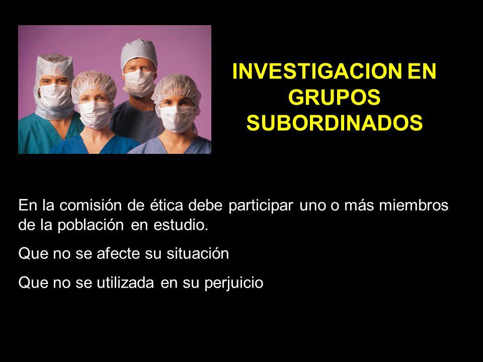 INVESTIGACION EN GRUPOS SUBORDINADOS