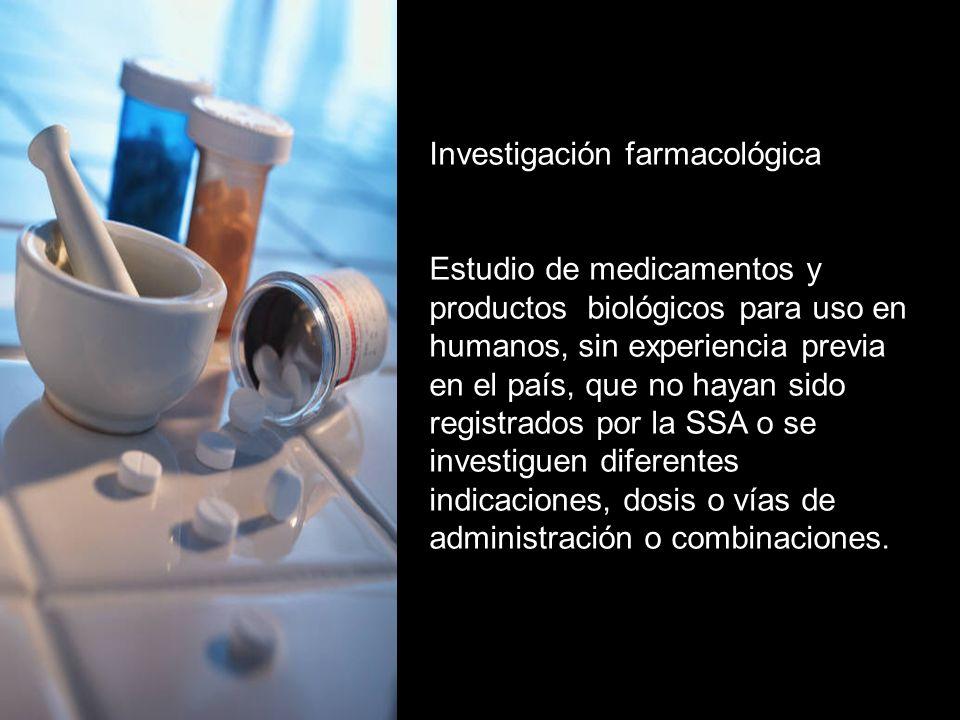 Investigación farmacológica