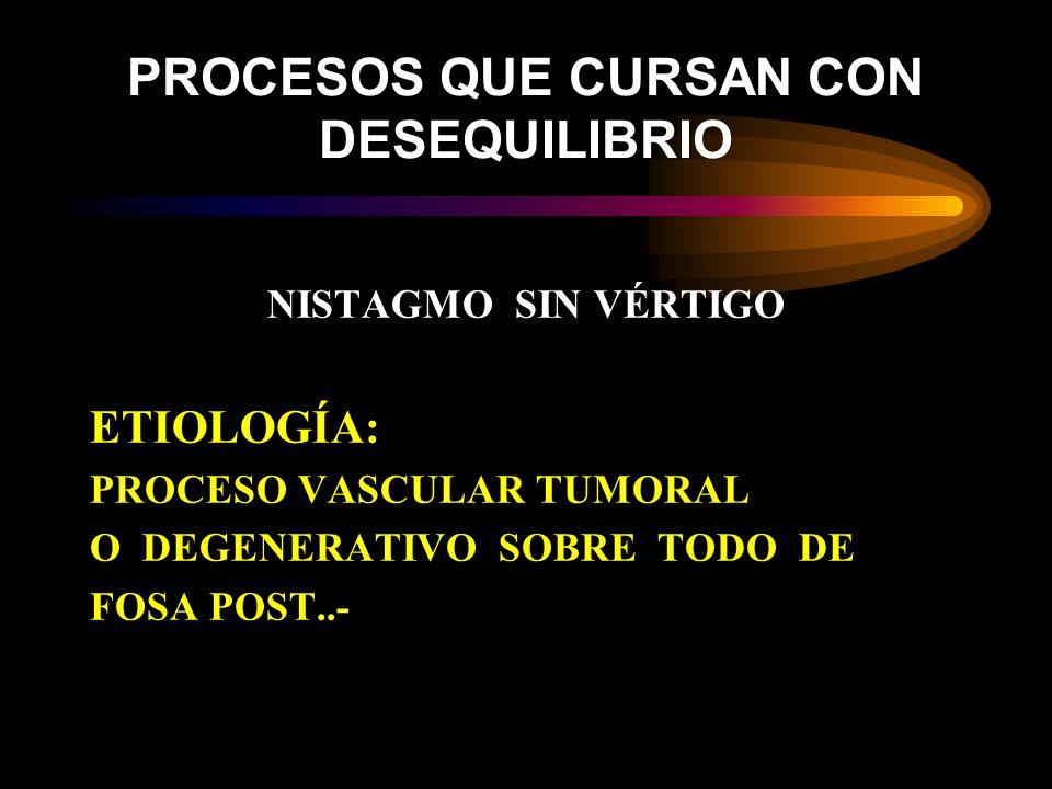 PROCESOS QUE CURSAN CON DESEQUILIBRIO