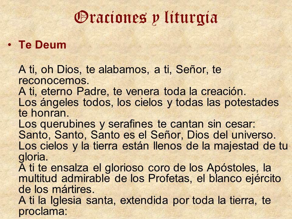Oraciones y liturgia Te Deum