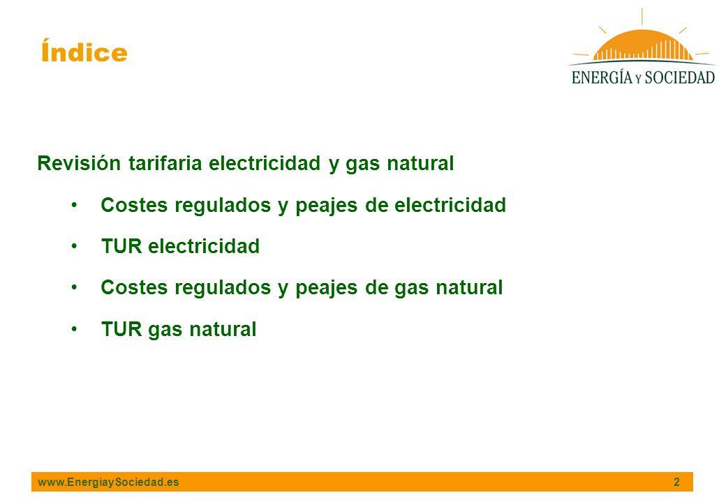Índice Revisión tarifaria electricidad y gas natural