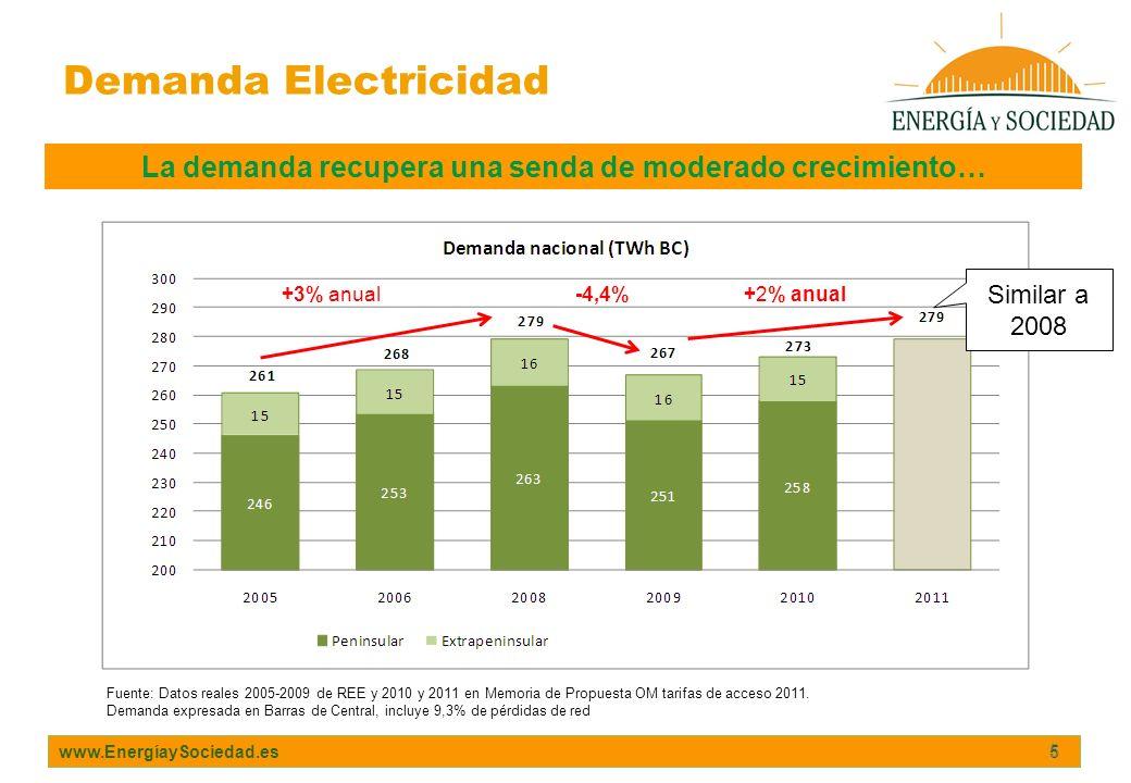 La demanda recupera una senda de moderado crecimiento…