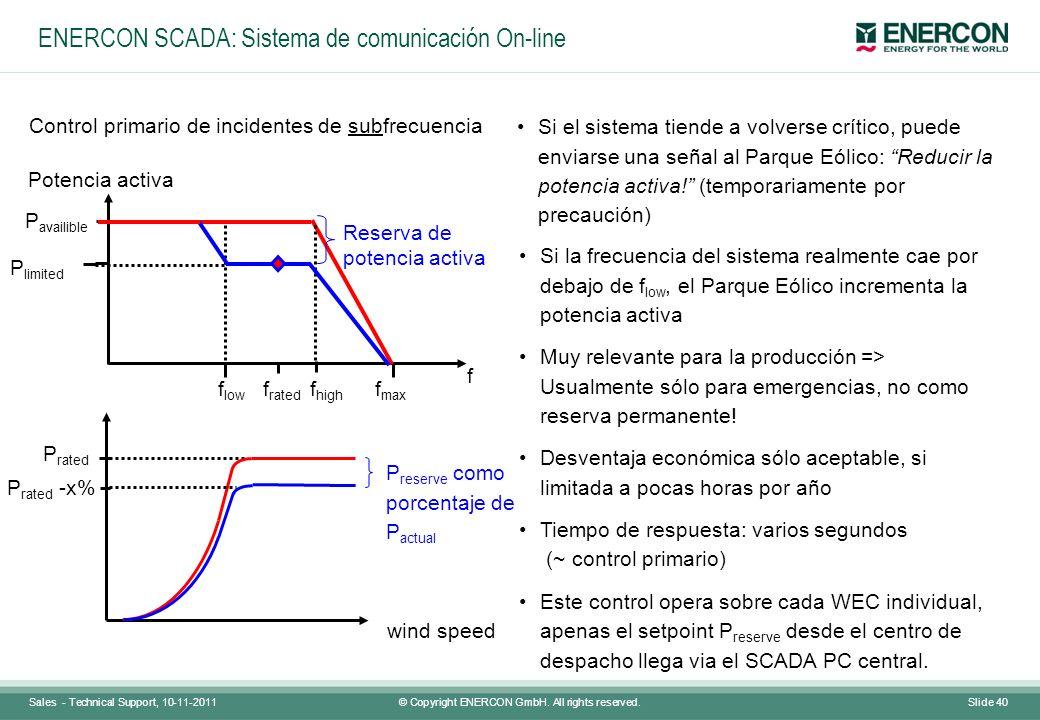 ENERCON SCADA: Sistema de comunicación On-line