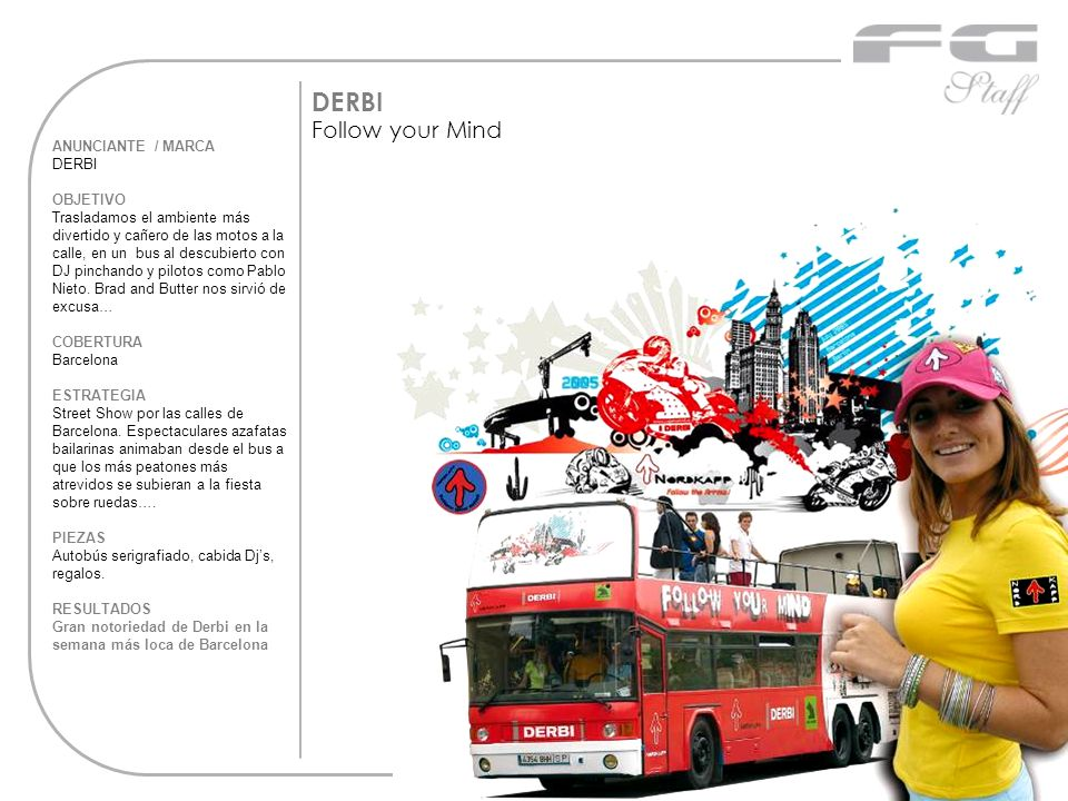 DERBI Follow your Mind ANUNCIANTE / MARCA DERBI OBJETIVO