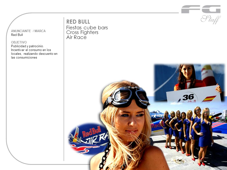 RED BULL Fiestas cube bars Cross Fighters Air Race ANUNCIANTE / MARCA