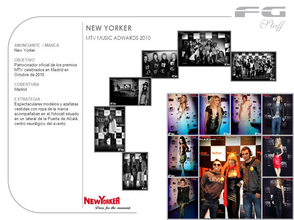 NEW YORKER MTV MUSIC ADWARDS 2010 ANUNCIANTE / MARCA New Yorker