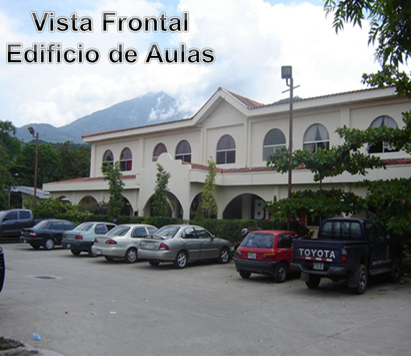 Vista Frontal Edificio de Aulas