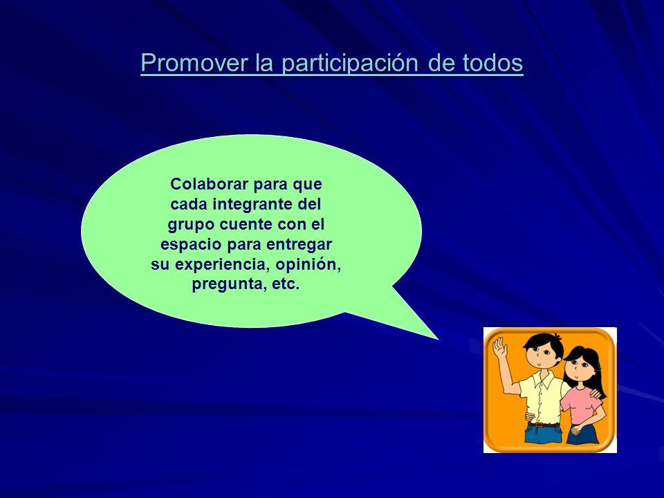 Promover la participación de todos