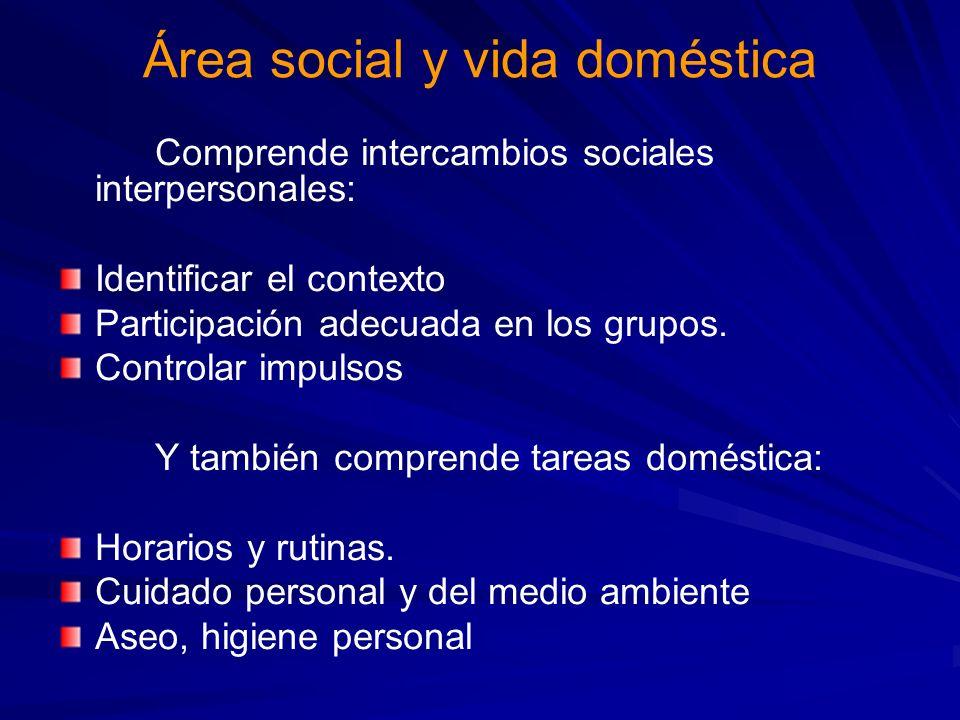 Área social y vida doméstica