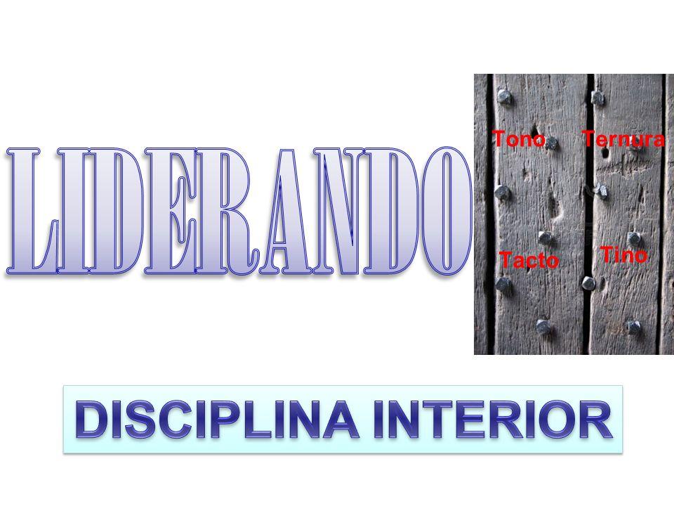 LIDERANDO ME Tono Ternura Tino Tacto DISCIPLINA INTERIOR