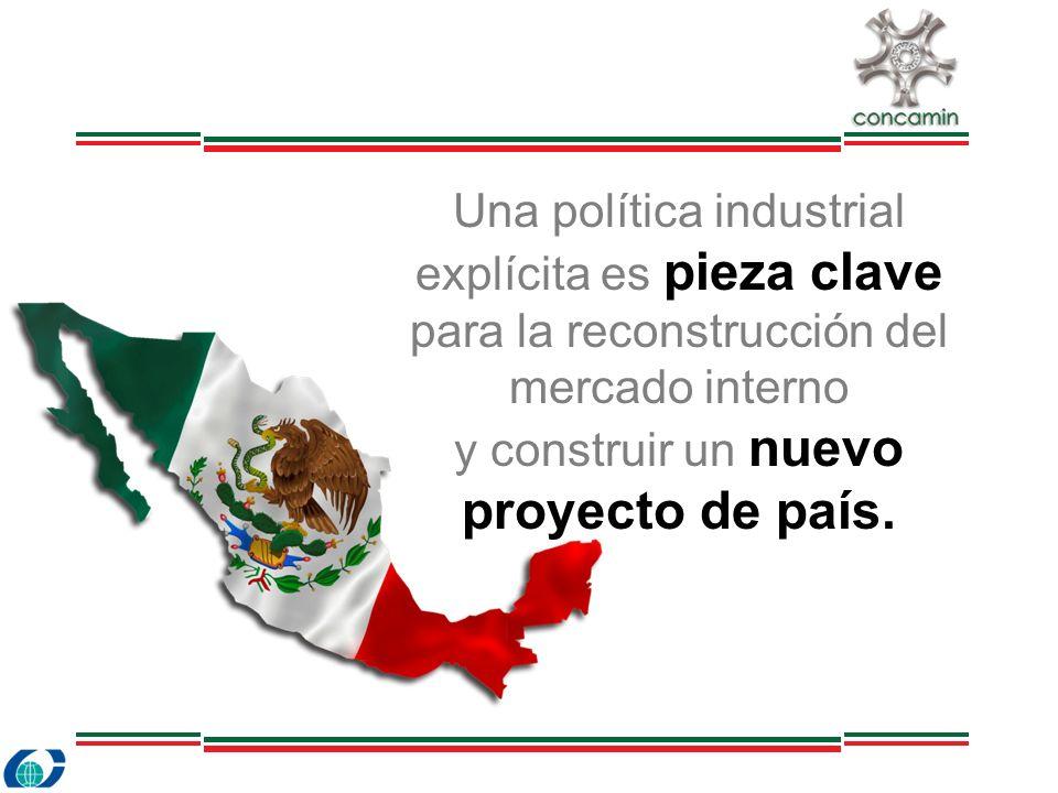 Una política industrial explícita es pieza clave