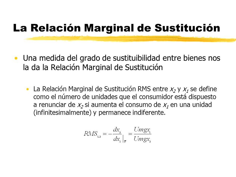 La Relación Marginal de Sustitución