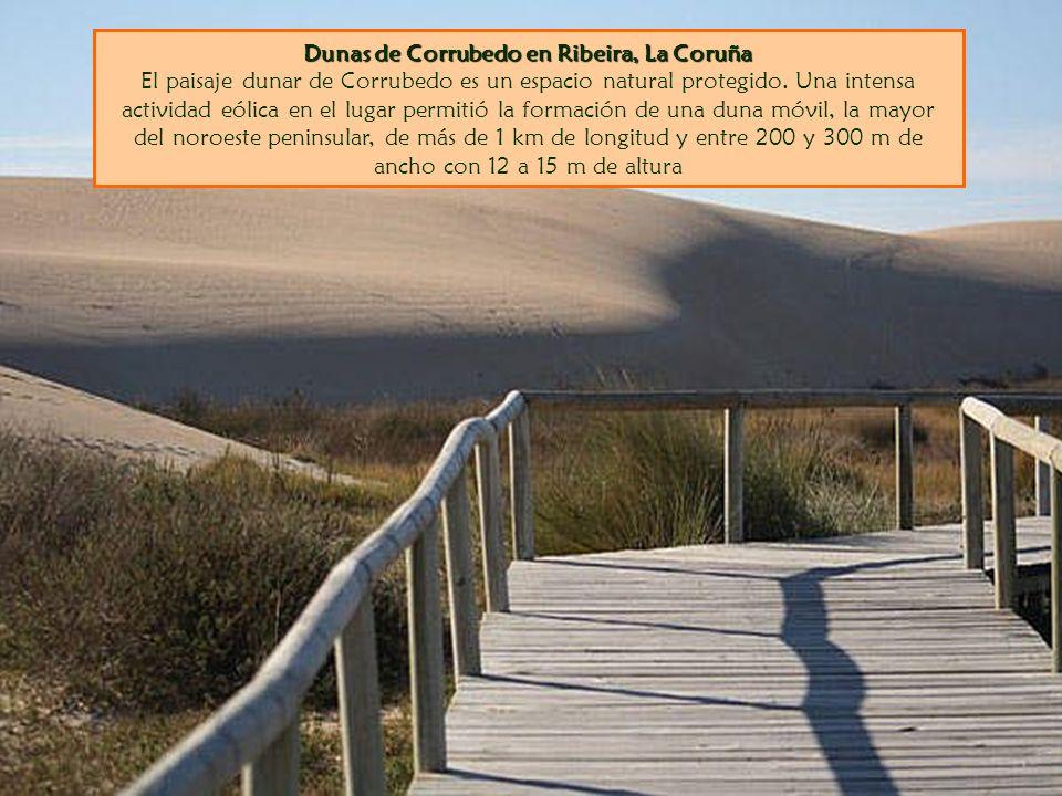 Dunas de Corrubedo en Ribeira, La Coruña El paisaje dunar de Corrubedo es un espacio natural protegido.