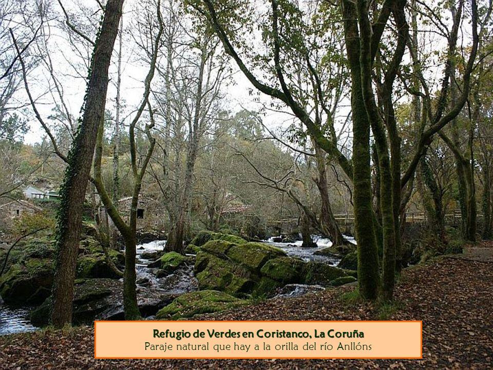 Refugio de Verdes en Coristanco, La Coruña Paraje natural que hay a la orilla del río Anllóns