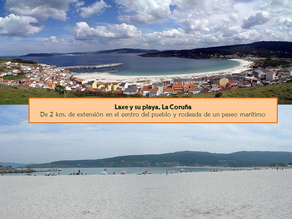 Laxe y su playa, La Coruña De 2 km