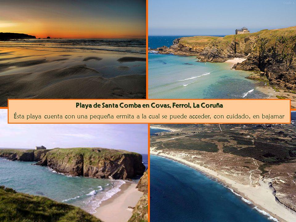 Playa de Santa Comba en Covas, Ferrol, La Coruña