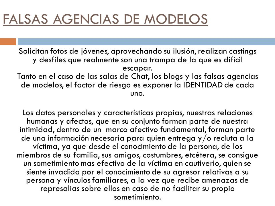 FALSAS AGENCIAS DE MODELOS