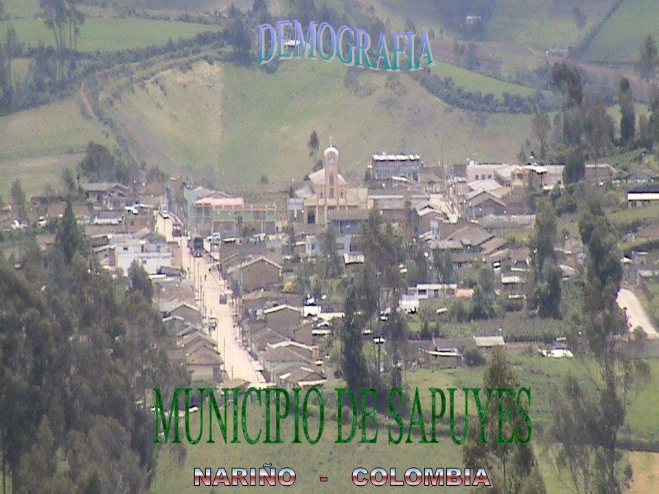DEMOGRAFIA MUNICIPIO DE SAPUYES NARIÑO - COLOMBIA