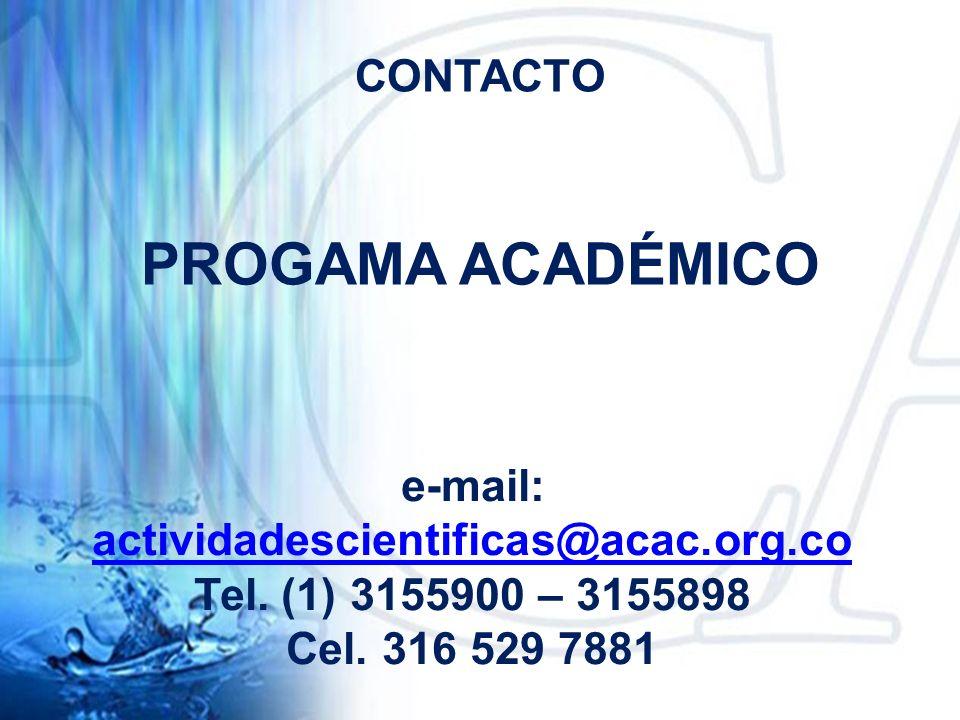 e-mail: actividadescientificas@acac.org.co