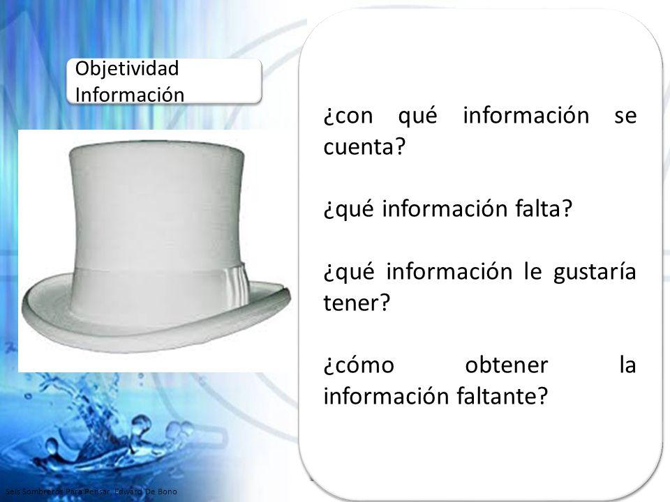 ¿con qué información se cuenta
