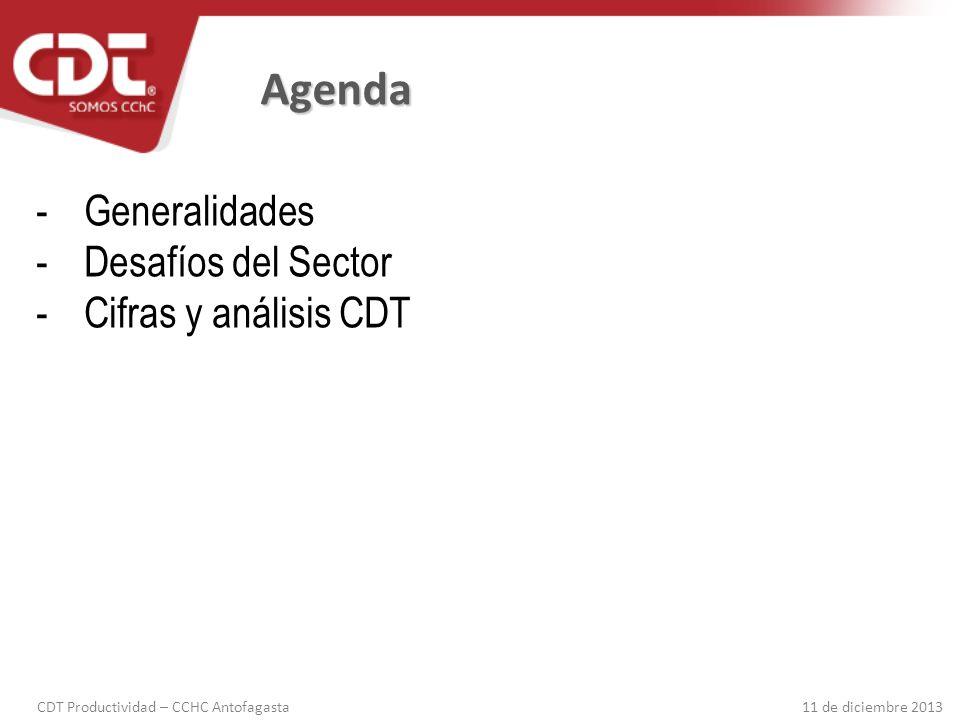 Agenda Generalidades Desafíos del Sector Cifras y análisis CDT