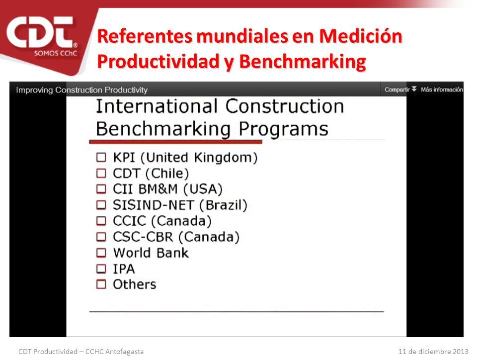 Referentes mundiales en Medición Productividad y Benchmarking
