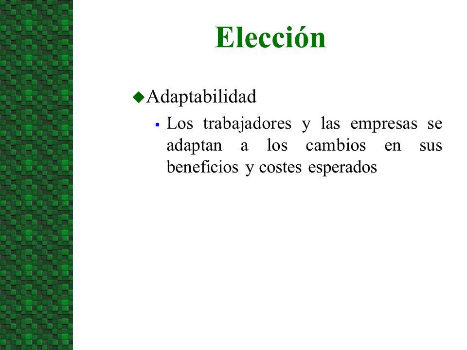 Elección Adaptabilidad