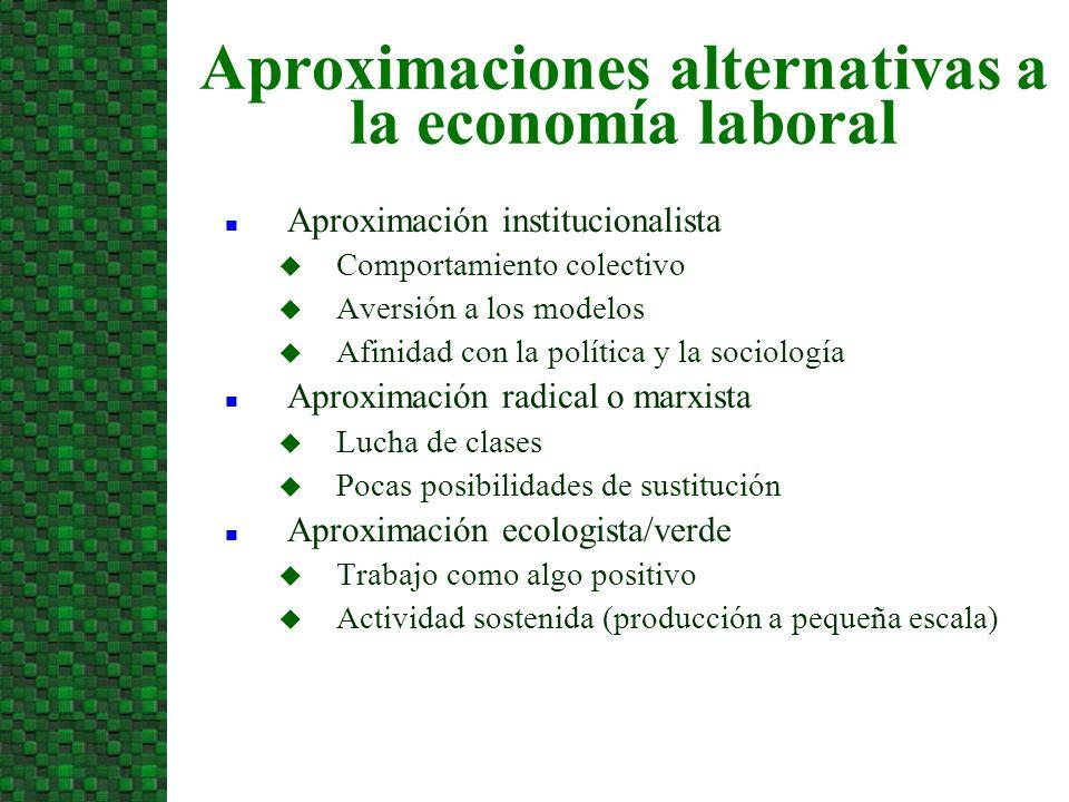Aproximaciones alternativas a la economía laboral