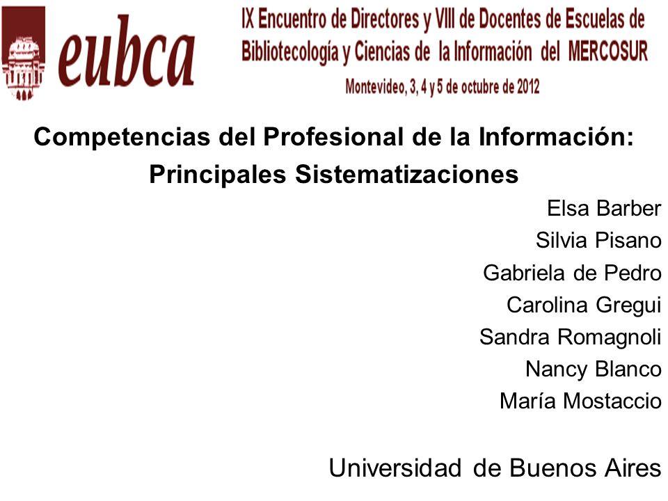 Competencias del Profesional de la Información: