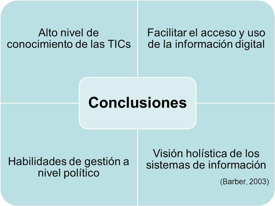 Conclusiones Visión holística de los sistemas de información