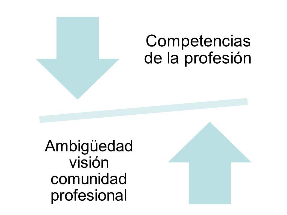 Competencias de la profesión