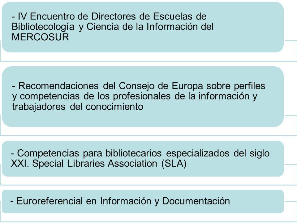 - Euroreferencial en Información y Documentación