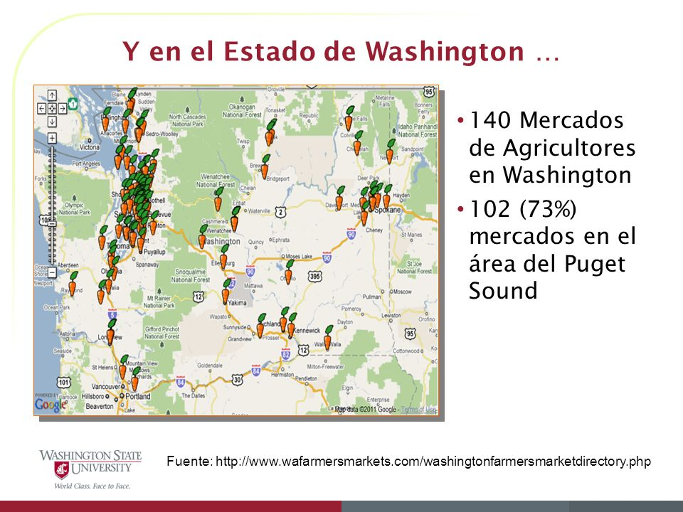 Y en el Estado de Washington …