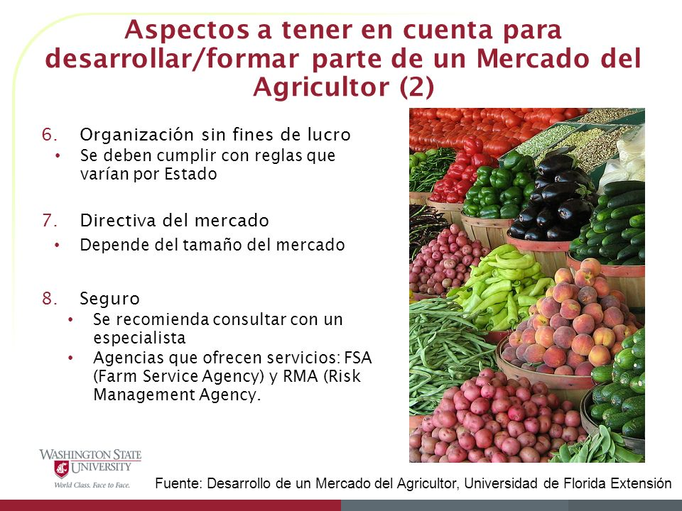Aspectos a tener en cuenta para desarrollar/formar parte de un Mercado del Agricultor (2)