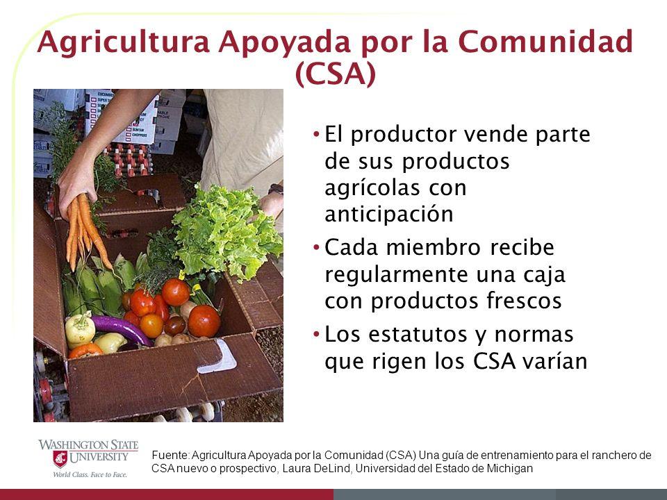 Agricultura Apoyada por la Comunidad (CSA)